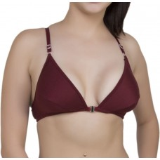 Cotton Full Cup Non-Padded Seamless Maroon Wire Free All Day Wear Bra - (Size 34)