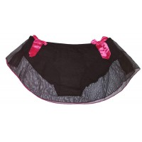 Black Net Full Back Panty Skirt Sexy Bikini for Ladies Women's Girls (Free Size)