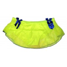 Neon Green Net Full Back Panty Skirt Sexy Bikini for Ladies Women's Girls (Free Size)