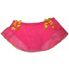 Pink Net Full Back Panty Skirt Sexy Bikini for Ladies Women's Girls (Free Size)
