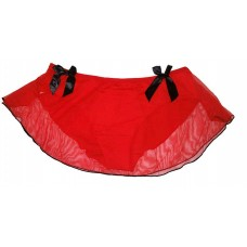 Red Net Full Back Panty Skirt Sexy Bikini for Ladies Women's Girls (Free Size)