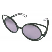 Premium Quality Mirror Finish CAT EYES Sunglasses for Women Latest Trend in Ladies Shades (Black)