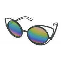 Premium Quality Mirror Finish CAT EYES Sunglasses for Women Latest Trend in Ladies Shades (Rainbow)