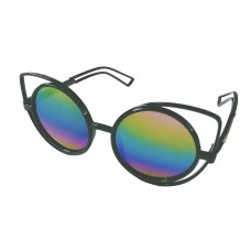 Premium Quality Mirror Finish CAT EYES Sunglasses for Women Latest Trend in Ladies Shades (Rainbow)